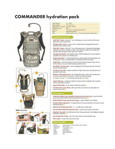 SOURCE HYDRATION CARGO PACK COMMANDER 10L OLIVE