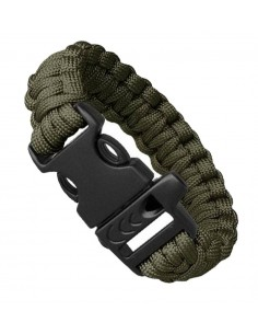 PARACORD BRACELET WHISTLE OLIVE