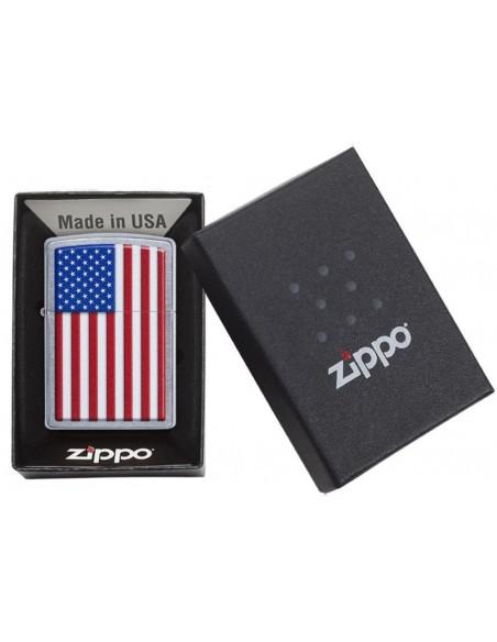 Zippo Lighter Patriotic Street Chrome