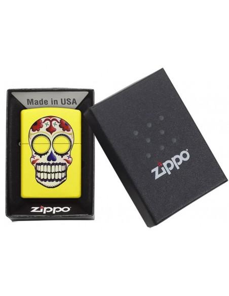 Zippo Upaljač Neon Yellow Day of the Dead