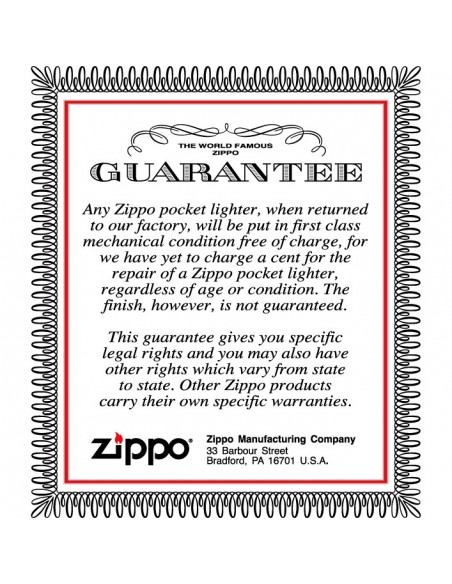 Zippo Lighter Lossproof Laynard Brushed Chrome