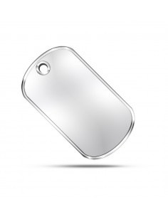 Dog Tag Military Plates Silver Matte