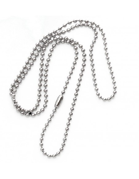 Dog Tag Chain 61cm Silver