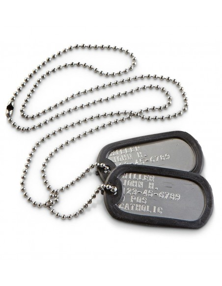 Original Dog Tag Set With Embossing