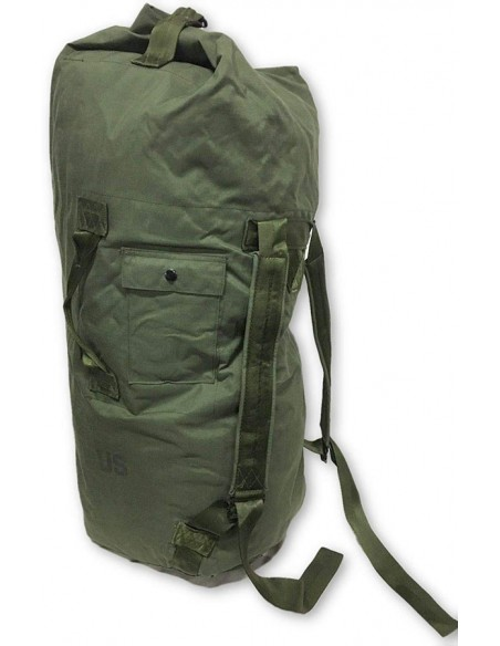 US Army Surplus Double Strap Duffle Bag Olive