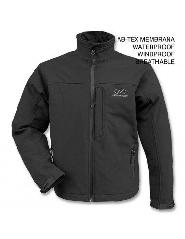Highlander Odin Jakna Ab-Tex Softshell Black