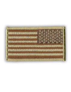 Patch US Flag Reverse Desert Tan
