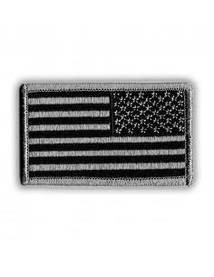 Prišivak Amblem US Flag Reverse Black / Silver