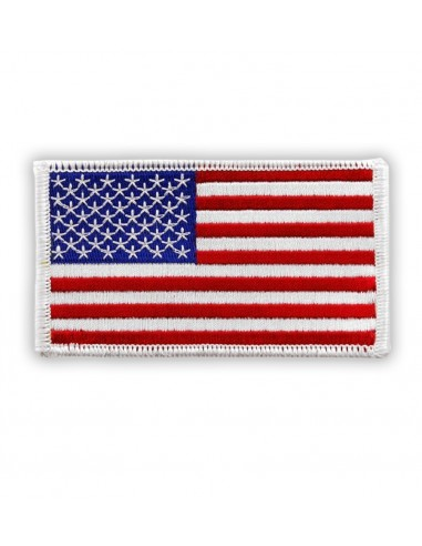 Patch US Flag White Color