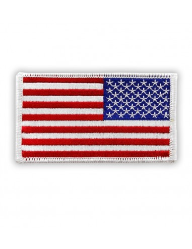 Patch US Flag Reverse White Color
