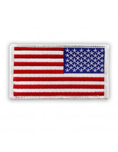 Prišivak Amblem US Flag Reverse White Color