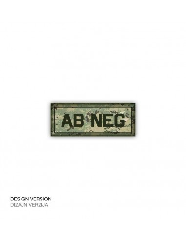 Patch Velcro Digital Blood Type Ab-Neg