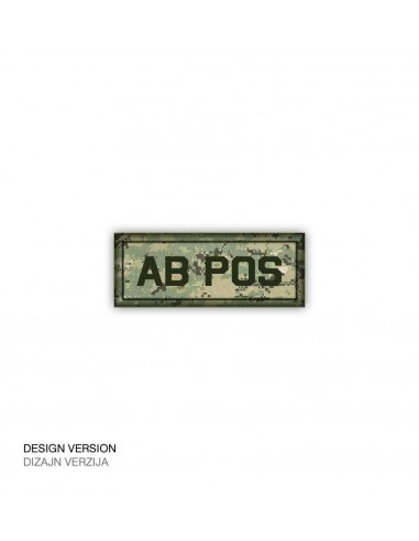 Patch Velcro Digital Blood Type Ab-Pos