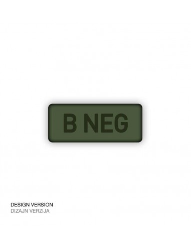 Patch Velcro Subdued Blood Type B-Neg