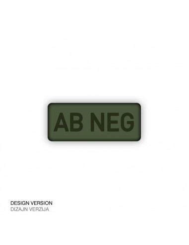 Patch Velcro Subdued Blood Type Ab-Neg