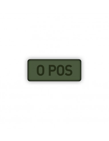 Patch Velcro Subdued Blood Type 0-Pos