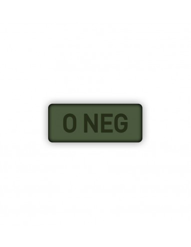 Patch Velcro Subdued Blood Type 0-Neg