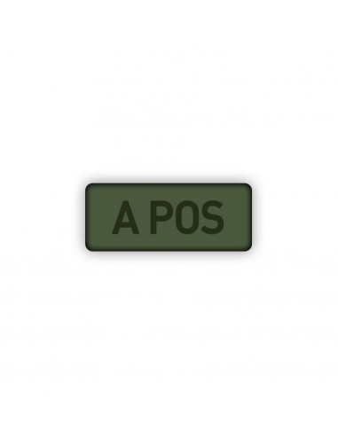 Patch Velcro Subdued Blood Type A-Pos