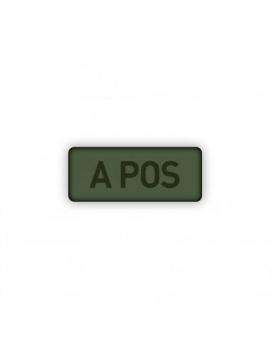 Prišivak Amblem Velcro/Čičak Subdued Krvna Grupa A-Pos