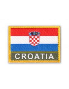 Prišivak Amblem Velcro/Čičak Zastava Croatia