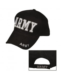 "Sturm MilTec Black ""Army"" Sandwich Baseball Cap"