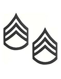 Insignia Staff Sergeant Black