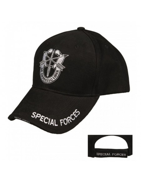 "Sturm MilTec Black ""Special Forces"" Sandwich Baseball Cap"