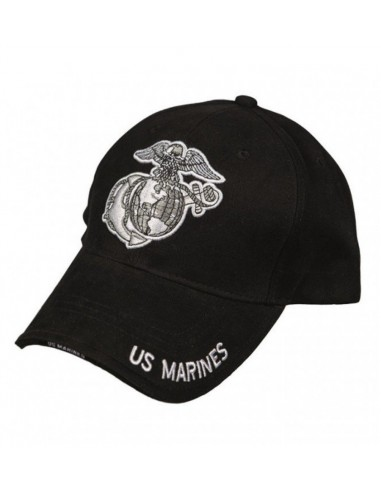 "Sturm MilTec Black ""Marines"" Sandwich Baseball Cap"