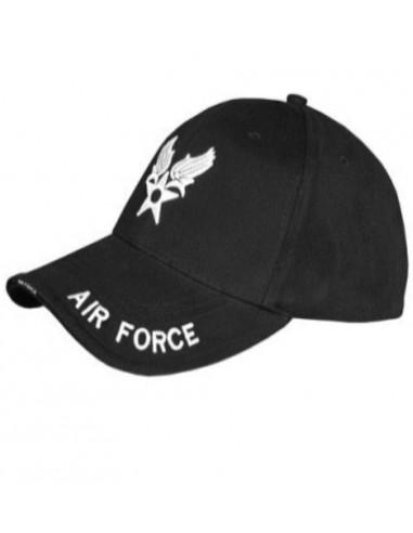 "Sturm MilTec Black ""Air Force"" Sandwich Baseball Cap"