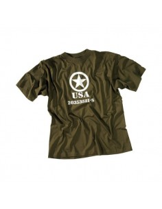"Sturm MilTec T-Shirt Cotton ""Allied Star"" Olive"