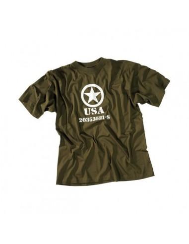"""Sturm MilTec T-Shirt Cotton """"Allied Star"""" Olive"""