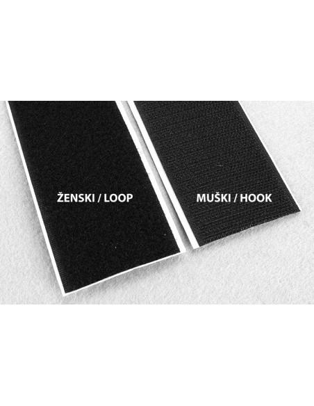 YKK Self Adhesive Velcro Tape 20mm Black Loop