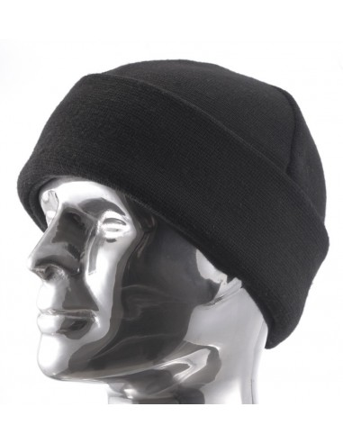 Dakota Knitted Wool Cap With Fleece Lining Black