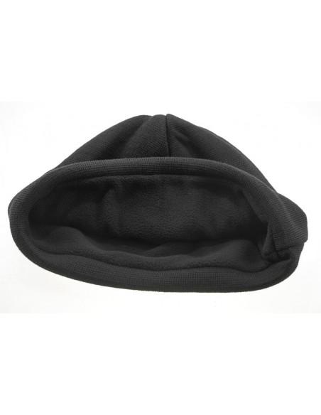 Dakota Knitted Wool Cap With Fleece Lining Black