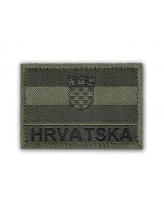 Prišivak Amblem Velcro/Čičak Zastava Hrvatska Olive