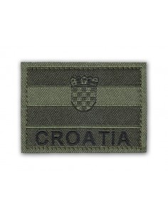 Patch Velcro Flag Croatia Olive