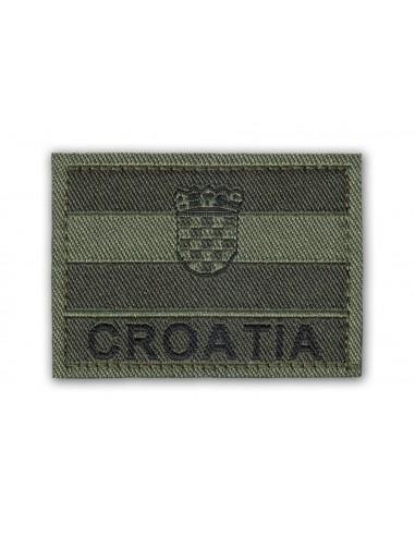 Prišivak Amblem Velcro/Čičak Zastava Croatia Olive