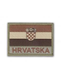 Patch Velcro Flag Hrvatska (Croatia) Desert