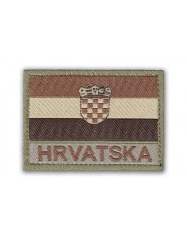Prišivak Amblem Velcro/Čičak Zastava Hrvatska Desert