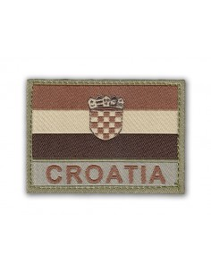 Prišivak Amblem Velcro/Čičak Zastava Croatia Desert