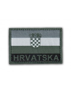 Patch Velcro Flag Hrvatska (Croatia) Grey