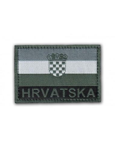 Prišivak Amblem Velcro/Čičak Zastava Hrvatska Siva
