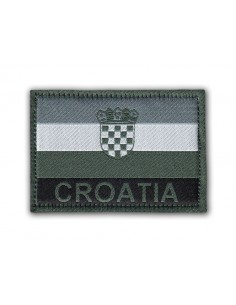 Patch Velcro Flag Croatia Grey
