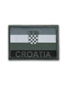 Prišivak Amblem Velcro/Čičak Zastava Croatia Siva
