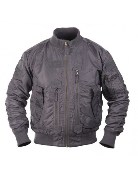 Sturm MilTec US Black Tactical Flight Jacket Urban Grey