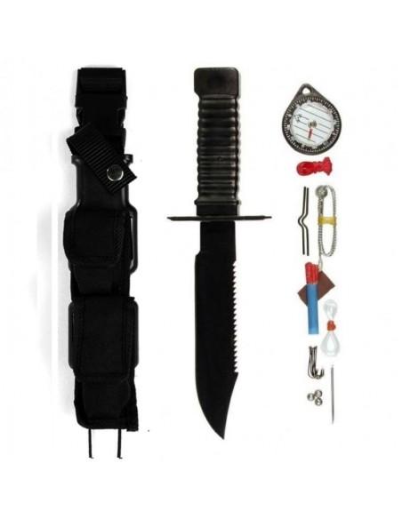 Sturm MilTec Survival Nož Special Forces Black