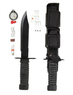 Sturm Miltec Survival Knife Special Forces Black