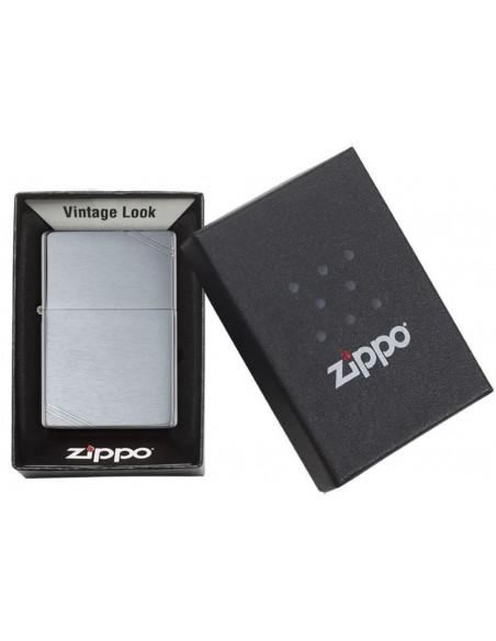 Zippo Upaljač Vintage Slashes Brushed Chrome