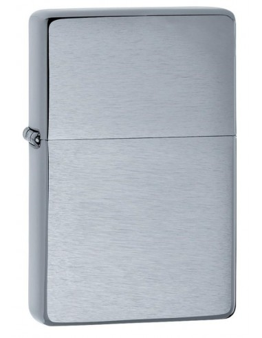 Zippo Lighter Vintage Brushed Chrome