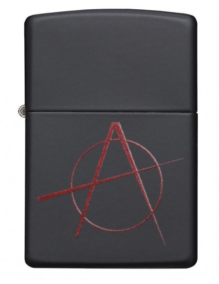 Zippo Lighter Black Matte Anarchy